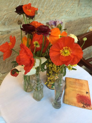 Flowers that matched the invitations and Order of Service