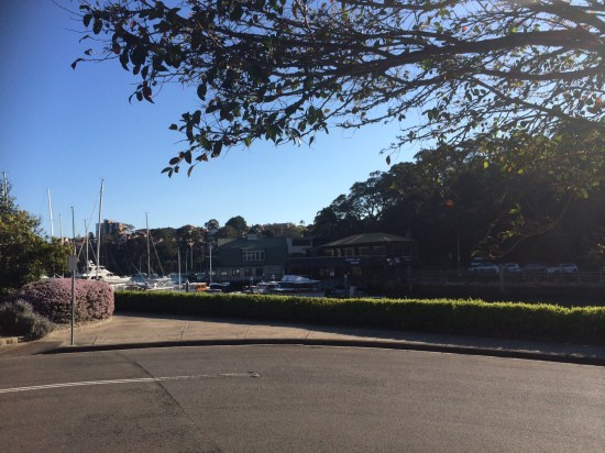 The view from Mosman Bay