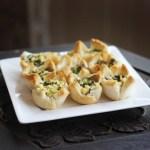 Mushroom and Asparagus Toast Cups