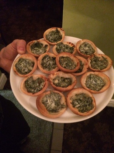 Spinach tarts