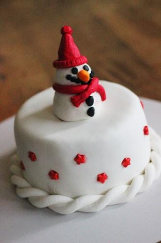 A very 'squat' snowman
