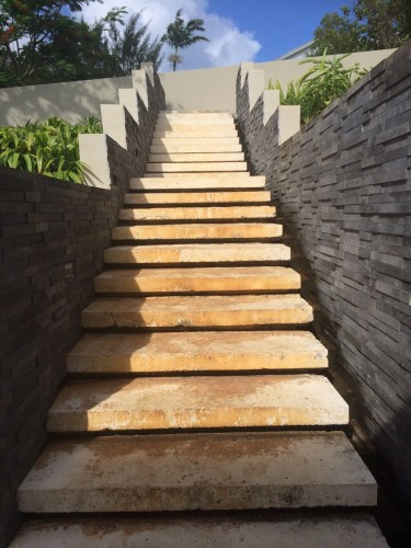 There are some stairs...