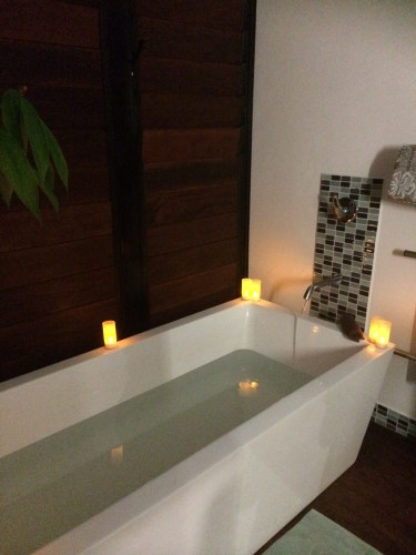 A scented bath