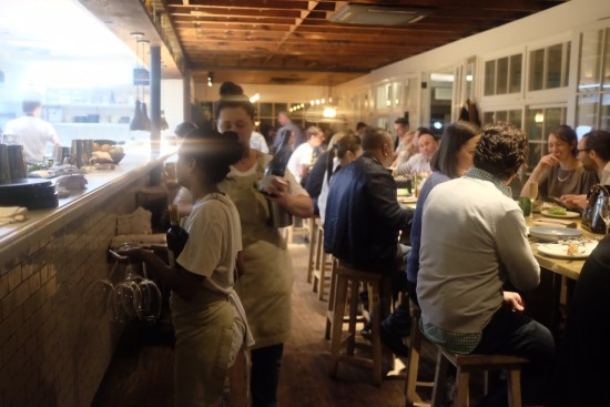 Bar area with the communal table