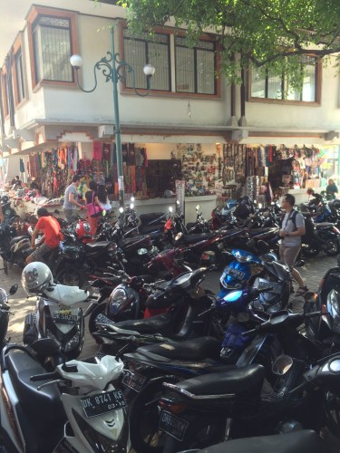 Parking spot for scooters at the Ubud Markets