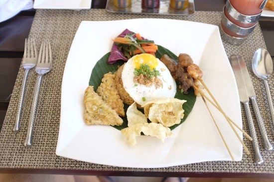 A typical Balinese breakfast.