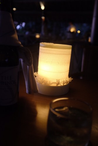 Pretty lanterns on the tables