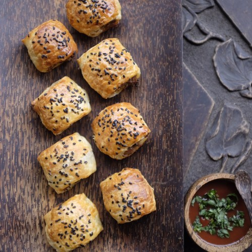 Sausage Rolls with homemade sauce