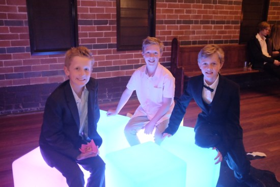 Cousins on the glow cubes
