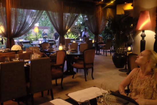 A very spacious restaurant