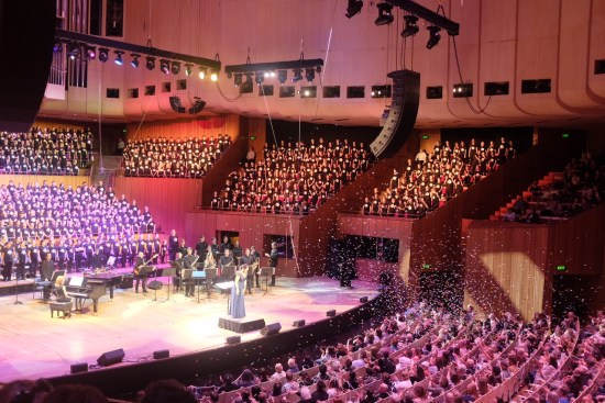 Performing at the Sydney Opera House