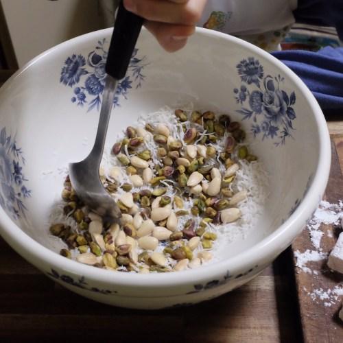 Blending the ingredients