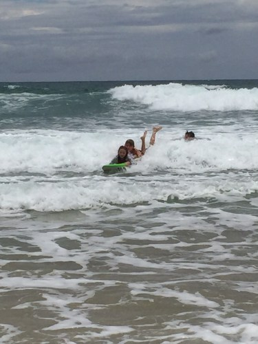 A Christmas day surf