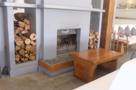 Open fireplace for wintry nights