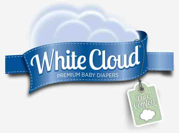 white cloud diaper logo