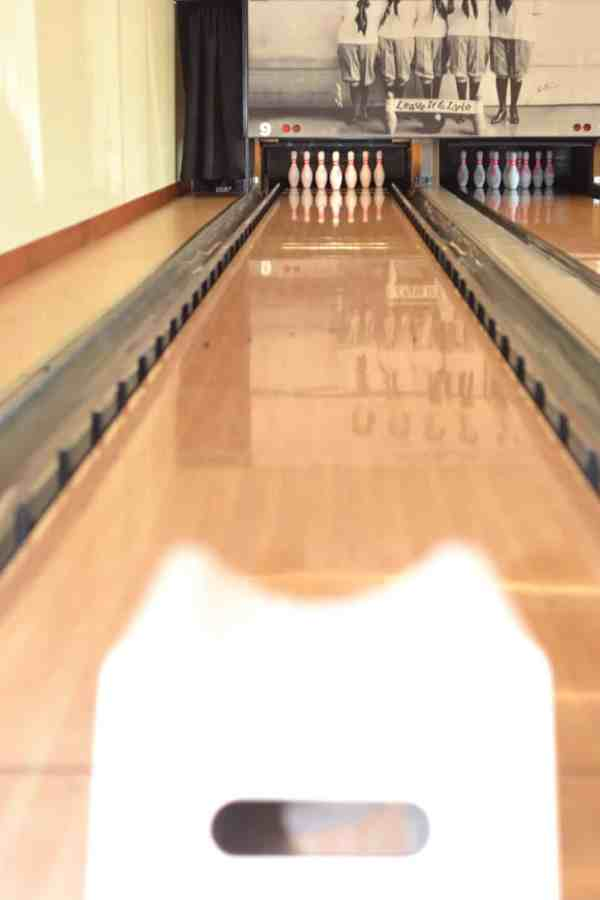 Pinstripes Mom & Tot bowling.