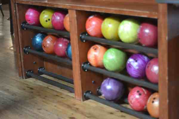 Pinstripes bowling alley is a great gathering place for families!