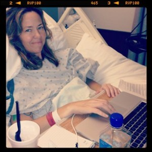 me in hospital