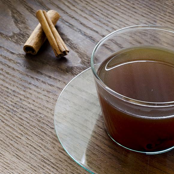 Warming and soothing lemon and cinnamon tea