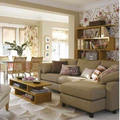 Living room with stylish wallpaper | Living room funriture | Decorating ideas | housetohome.co.uk