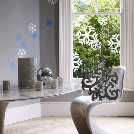 Interior design snowflakes
