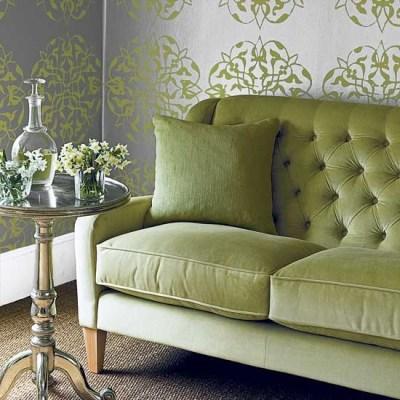Green living room sofa | housetohome.co.uk