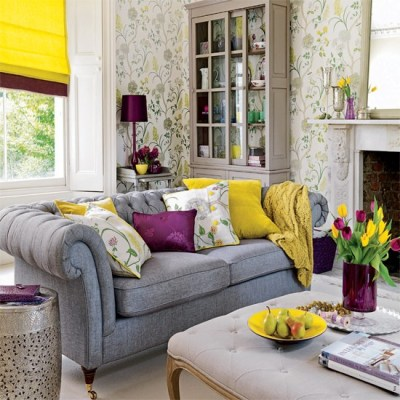 Living room wallpaper | housetohome.co.uk