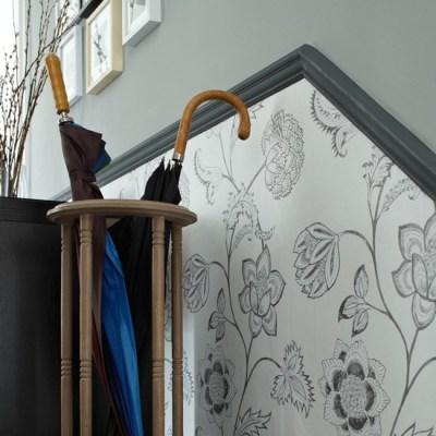 Wallpaper below the dado rail   10 wallpaper ideas for hallways   housetohome.co.uk