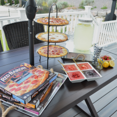 Outdoor Pizza Party and Lemonade Bar