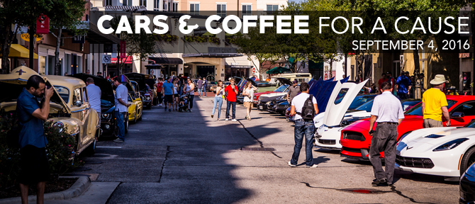 Cars & Coffee for a Cause September 2016
