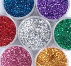 How to make colored icing and edible glitter.