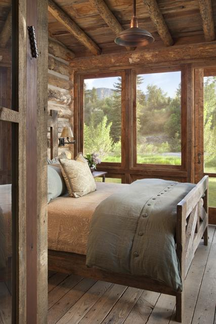 rustic cabin sleeping porch. (fiction) Bedroom – sleeping porch – at cabins alon