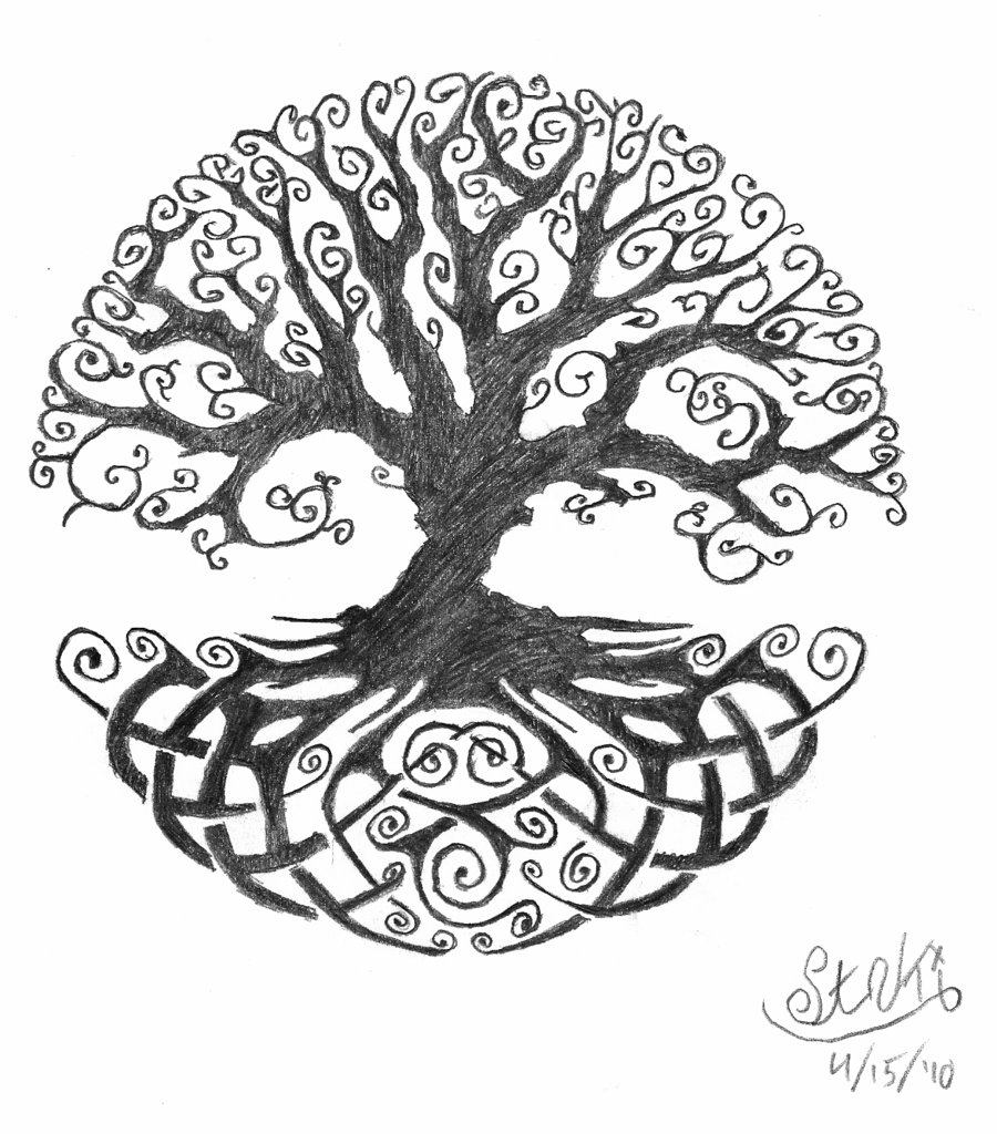 Celtic Tree of Life tattoo idea… possibly include a single red heart on the tr