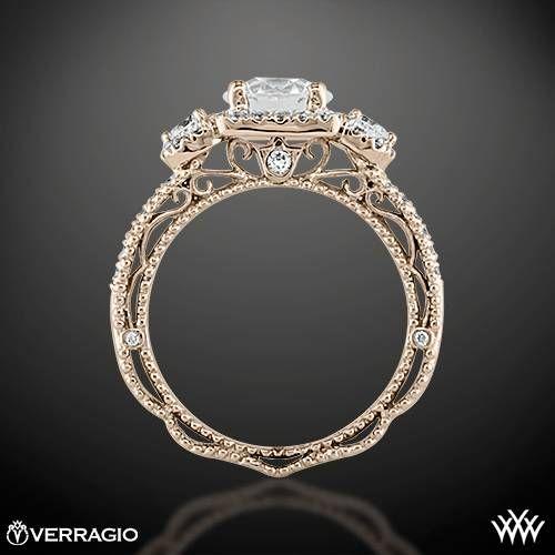 Verragio Triple Halo 3 Stone Engagement Ring