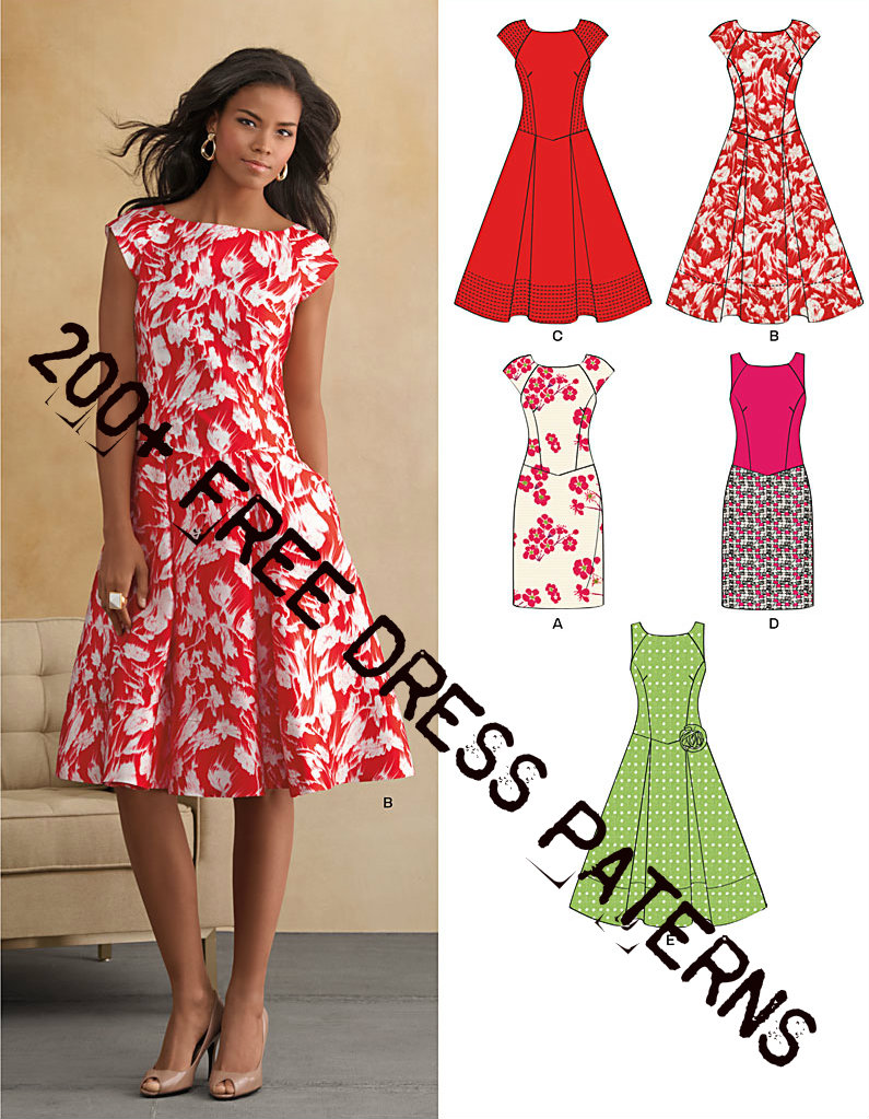 200+ Free Dress Patterns