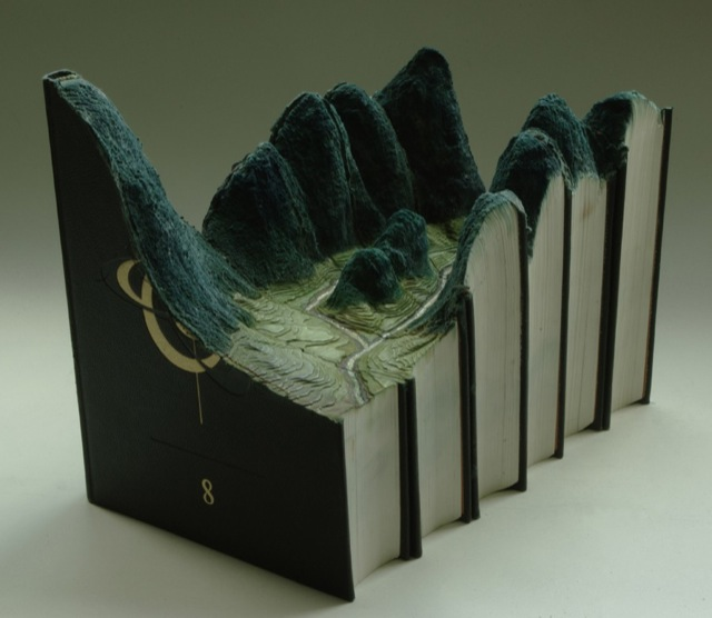 Amazing landscapes carved into books