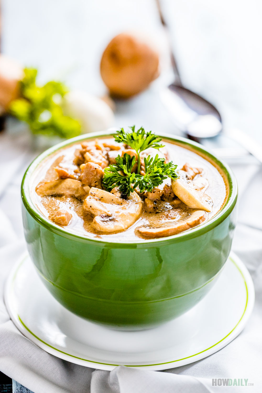 Creative Mushroom Soup Keto Ken Creamy Ken Mushroom Soup Recipe Garlic Mushroom Soup Casserole Onion Ken nice food Chicken And Mushroom Soup