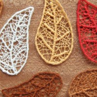 Needle Lace Skeleton Leaves