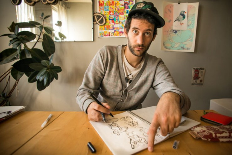 Skillshare series: Jon Burgerman, Photo by Nathan Beddows | How Far From Home