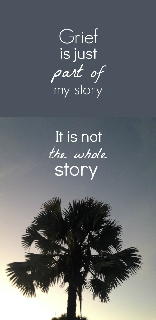 Grief is just part of my story - it is not my whole story   How I Sustain Blog
