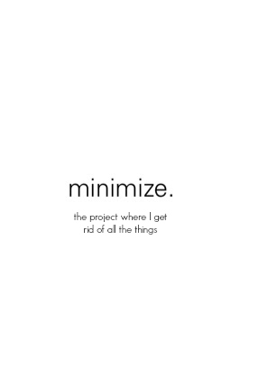 minimize: the project where I transform from clutter bug to minimalist
