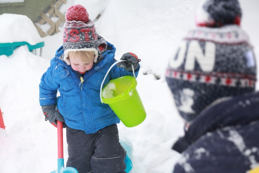 Anatomy of a Snow Day: outdoor play