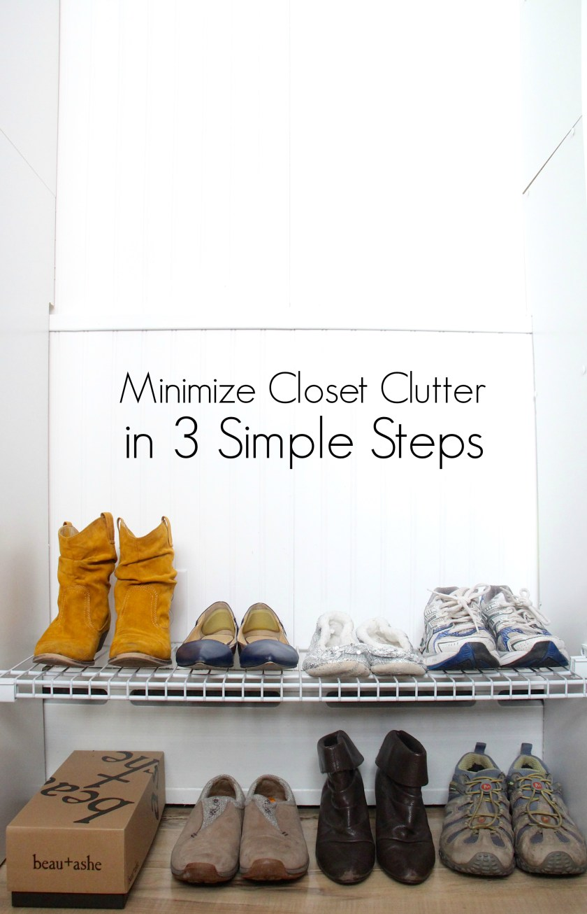 Minimize | the Project Where I get rid of all the things (in the shoe closet) - 3 Simple Steps to minimalist shoe storage