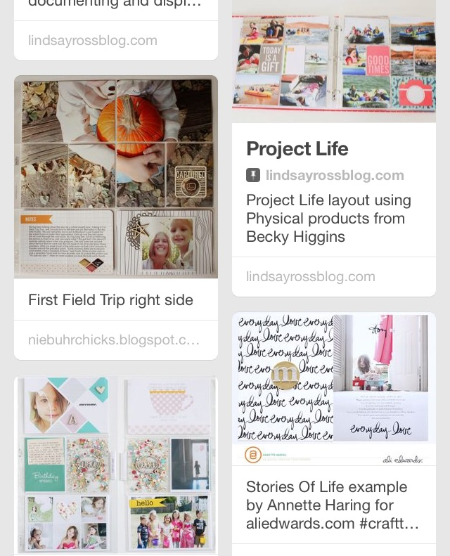 JulieGagen | Project Life Layouts, Inspiration, and Tips Pinterest Board