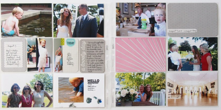 July 2014 | Project Life using Jade Edition, Travel Mini Kit, and Studio Calico Stamps & Accessories | Julie Gagen