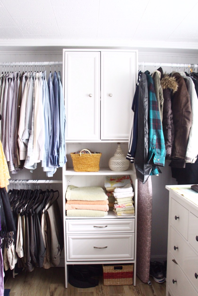 Home Tour | Our Master Closet/Laundry area - after