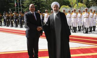 President Jacob Zuma with President of Iran Hassan Rouhani.