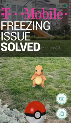 Pokemon GO Freezes T-Mobile