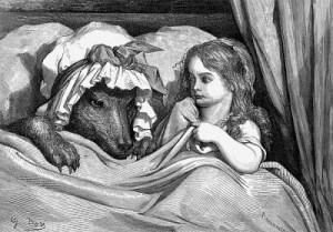 """Little Red Riding Hood"" by Gustave Dore"