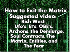 Ufo's, Et's, OBEs, Archons, The Demiurge, Soul Contracts, The Matrix, Entities, & The Fear